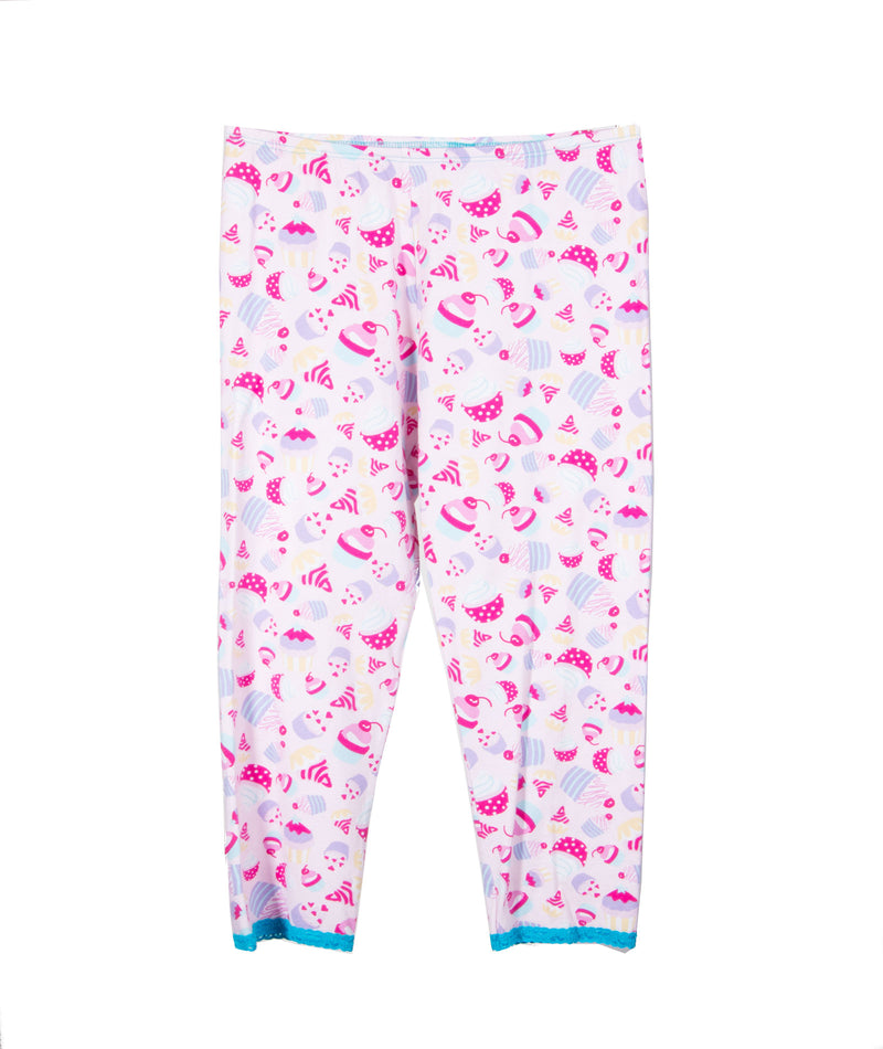 Esme Girls Pink Cupcake PJ Pant Set