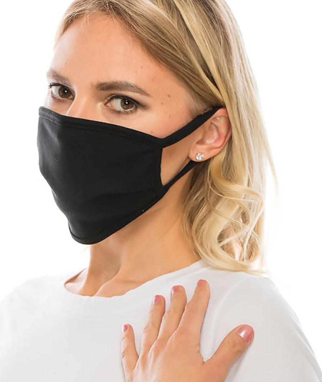 Fashionista J Adult & Kids Black Face Mask - IN-STOCK