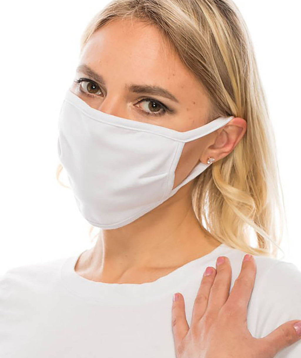 Fashionista J Adult & Kids White Face Mask - IN-STOCK