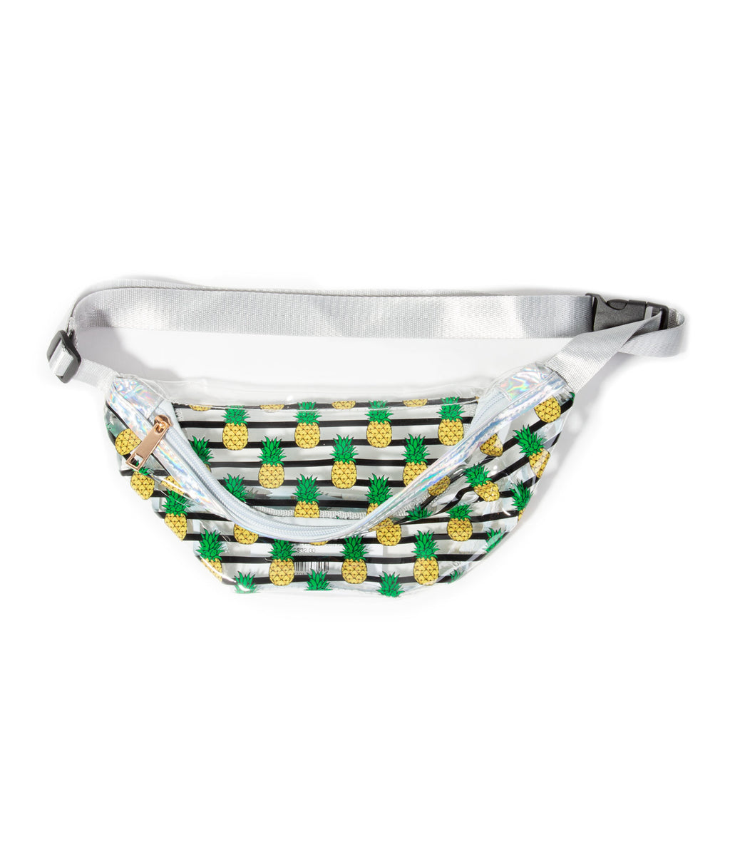 Fashionista J Clear Pineapple Fanny Pack