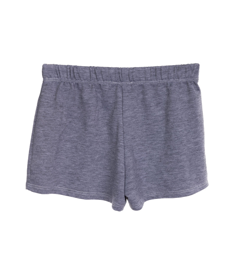 White Lightning Bolt Shorts Heather Grey