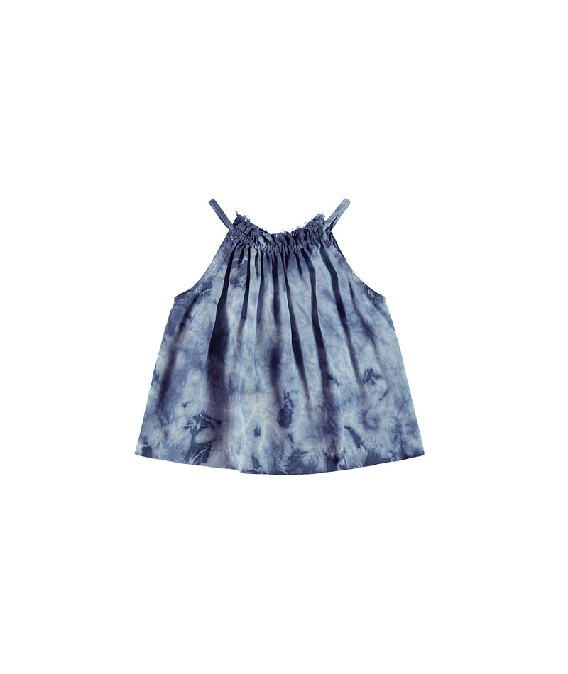 Bella Dahl Girls Indigo Fray Swing Tank