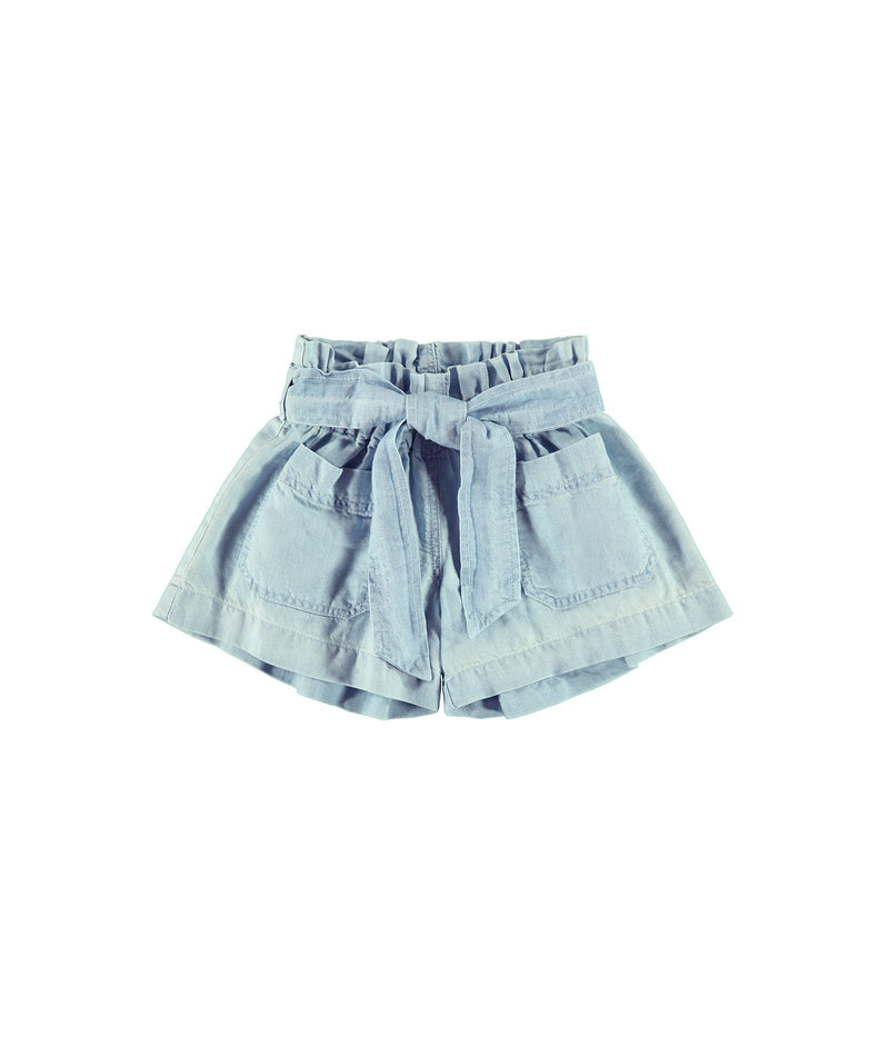 Bella Dahl Girls Sun Seam Ruffled High-Waisted Shorts