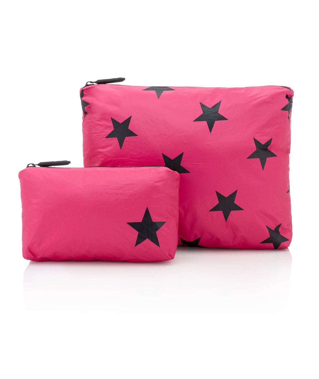 HI Love Travel 2 Pack Hot Pink Black Star