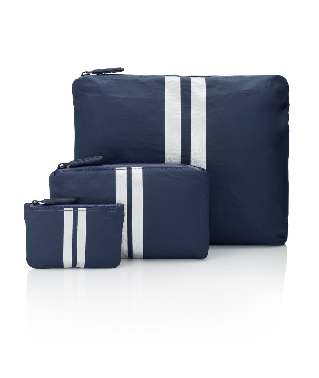 HI Love Travel Navy White Stripe 3 Pack
