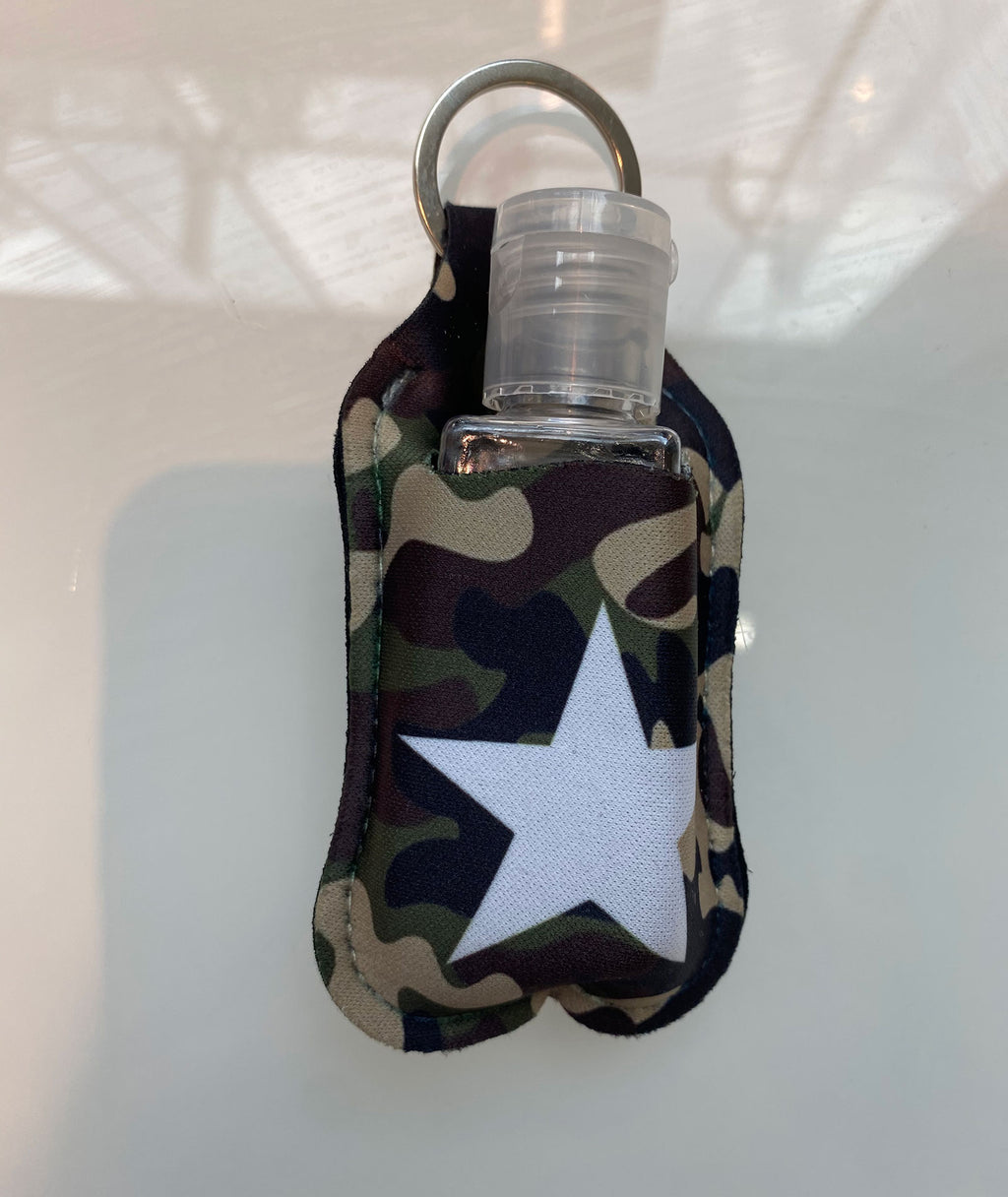 Truly Whimsical Hand Sanitizer Holder Camo Star