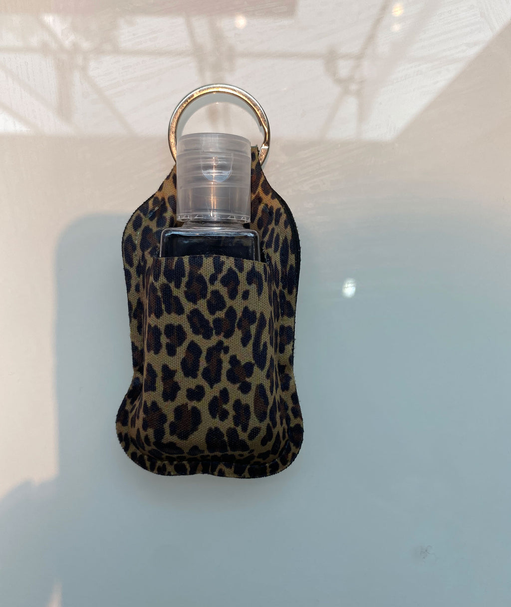 Truly Whimsical Hand Sanitizer Holder Leopard
