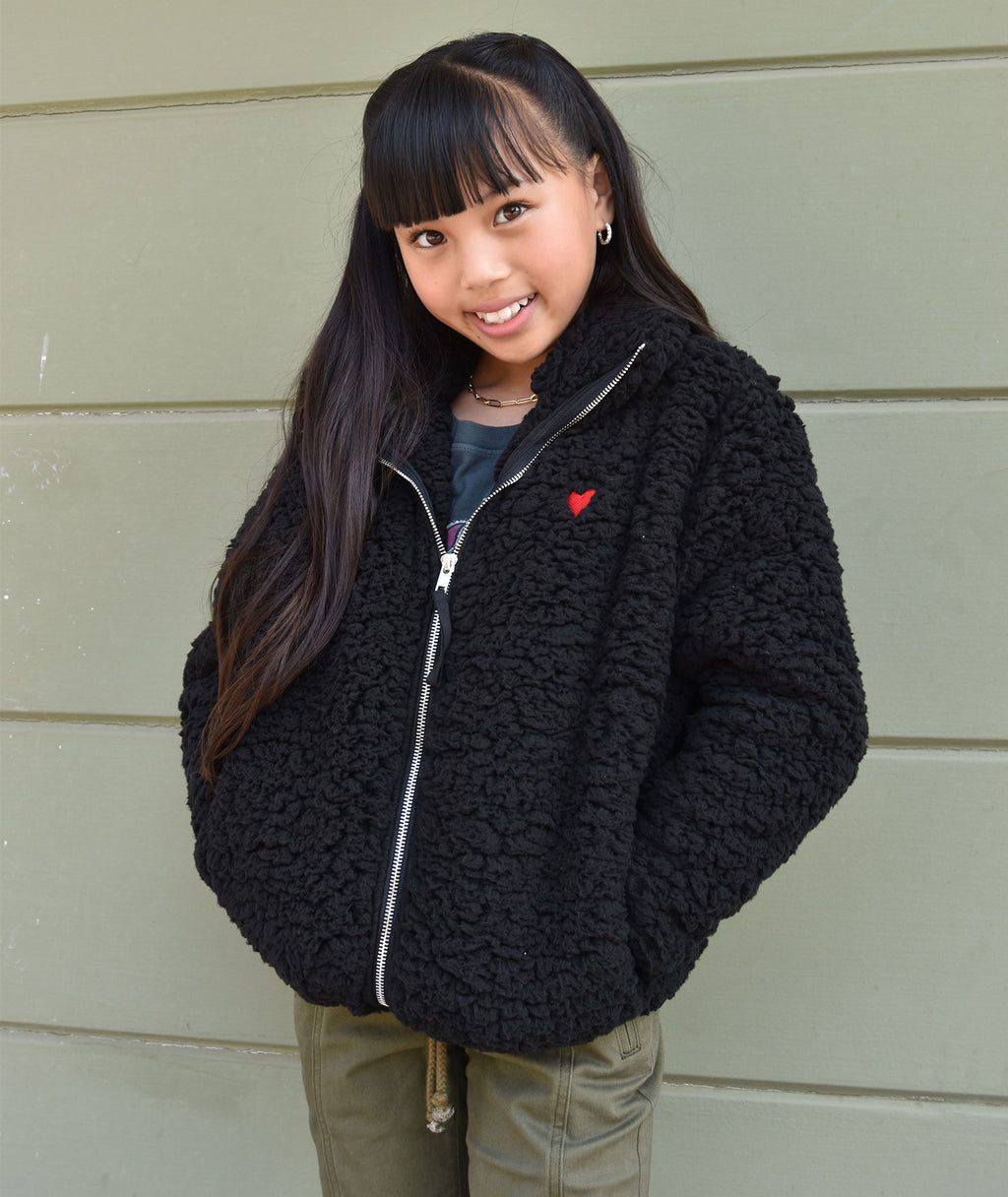 Sub_Urban Riot Girls Black Heart Teddy Jacket