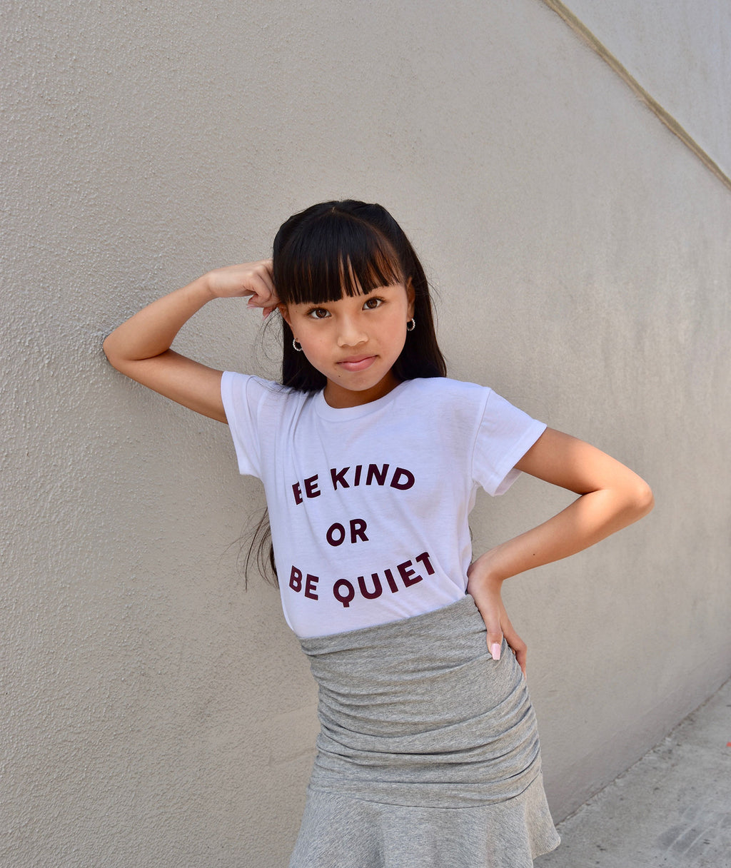 Sub_Urban Riot Girls White Be Kind or Be Quiet Tee