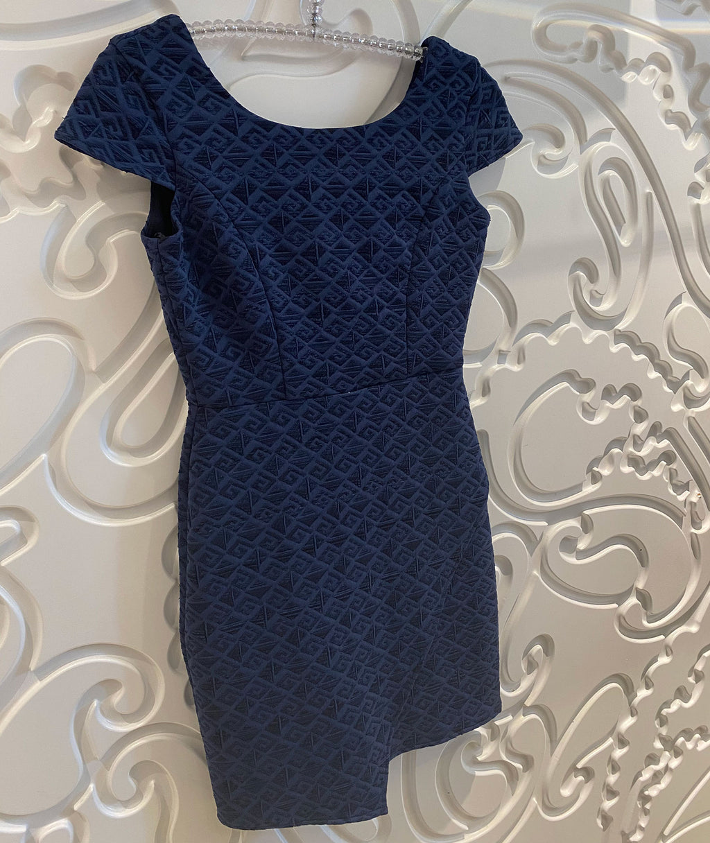 By Debra Girls Navy Cap Sleeve Envelope Dress
