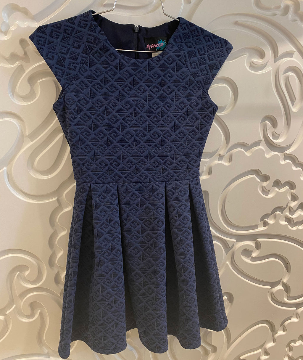 By Debra Girls Navy Cap Sleeve Dress