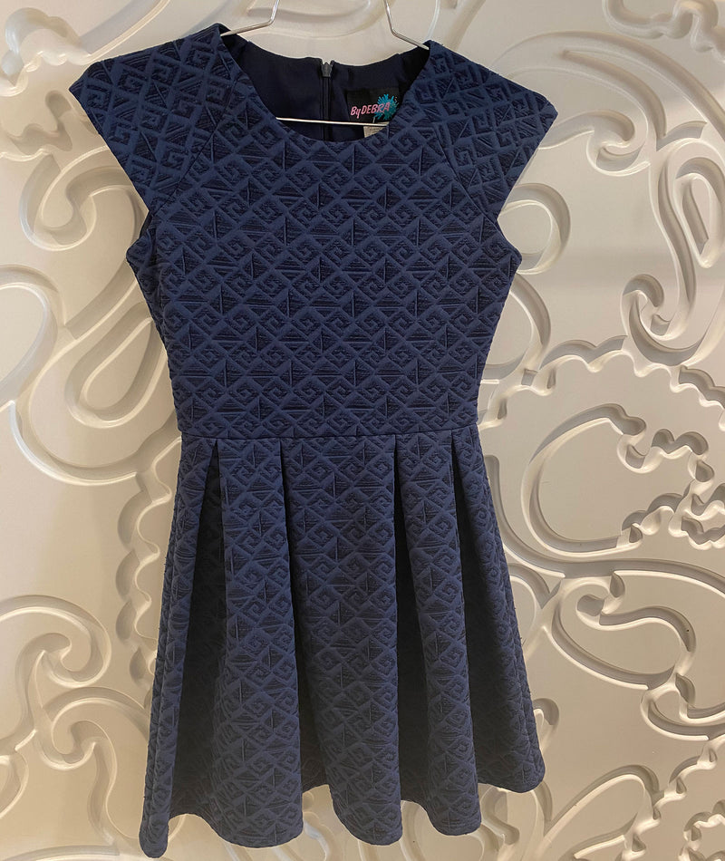 By Debra Girls Navy Foil Dress
