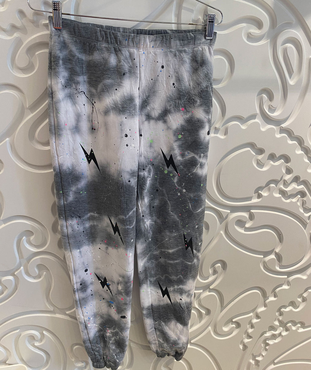 Firehouse Girls Splatter Cloud Heather Grey Bolt Sweatpants