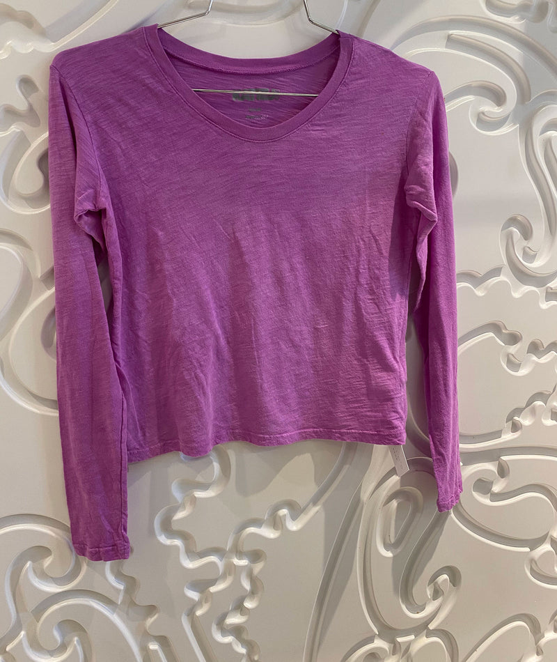 Katie J NYC Girls Fearless Lilac Crop Long Sleeve Tee