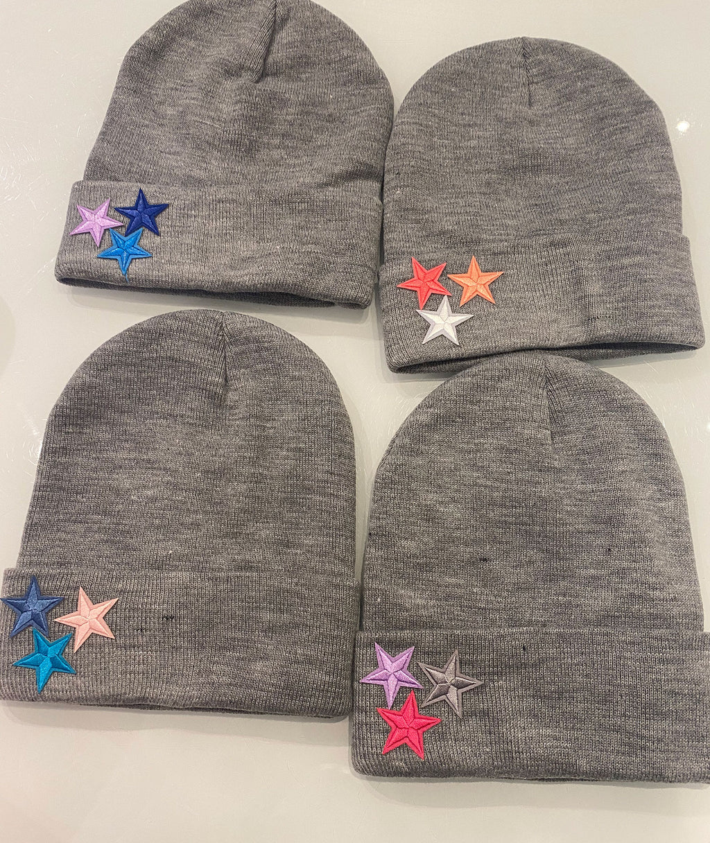 SK Designs Three Star Beanies