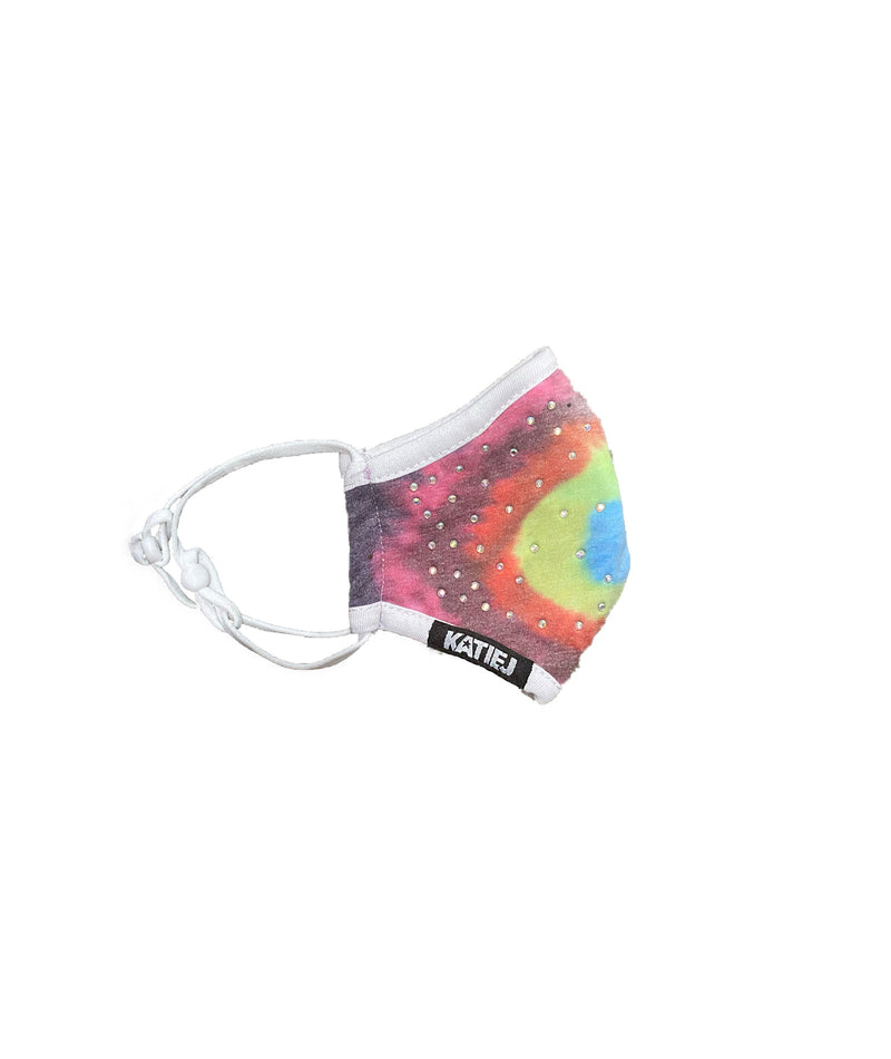 Katie J NYC One Size Bright Tie-Dye Face Mask - IN-STOCk