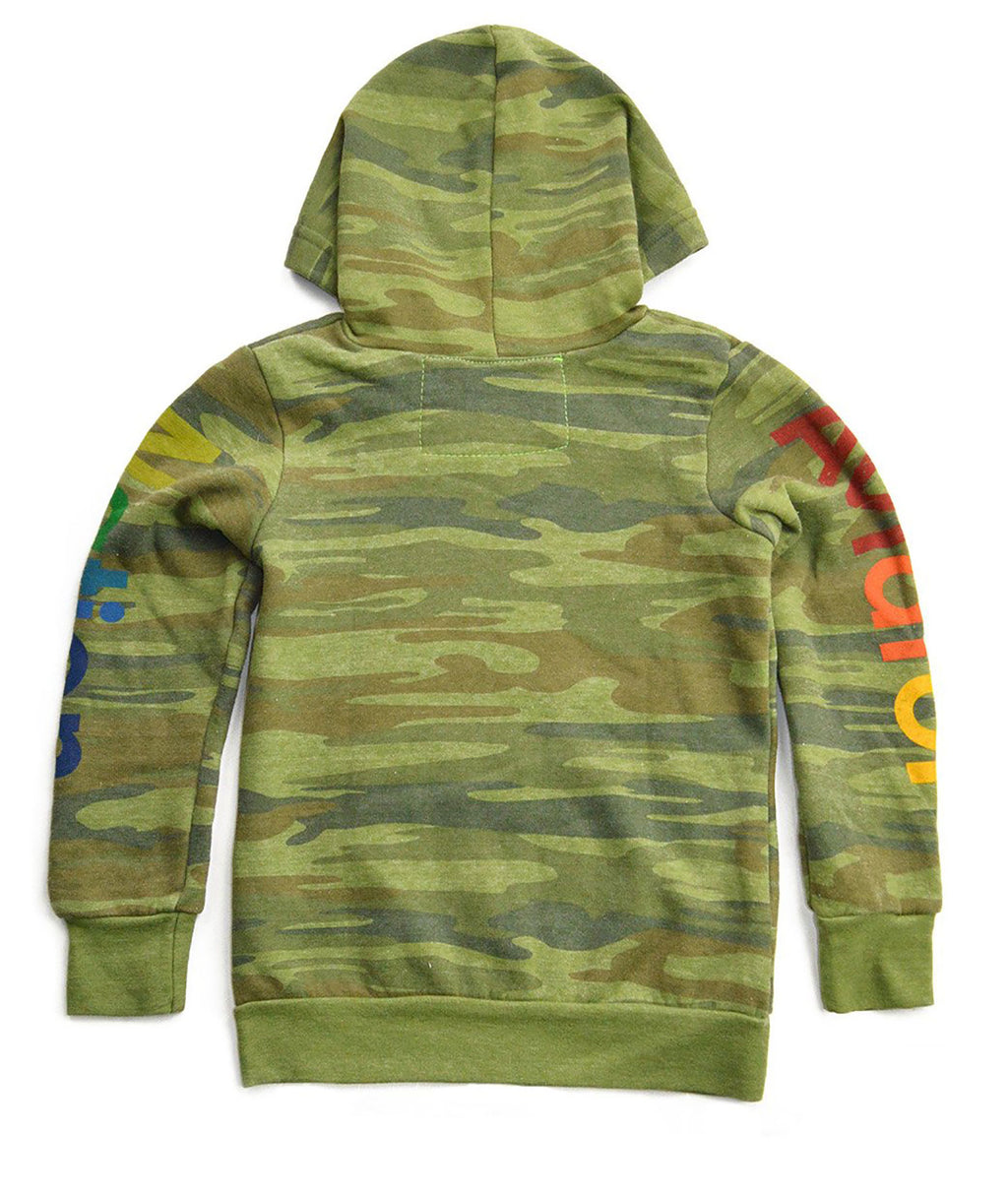 Aviator Nation Girls Camo Zip Hoodie