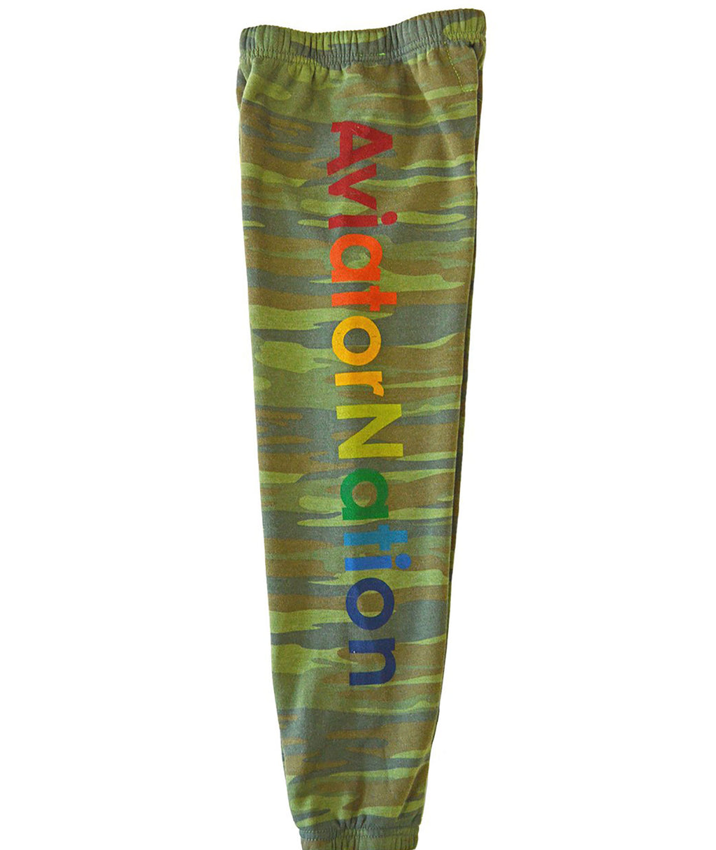 Aviator Nation Girls Camo Sweatpants