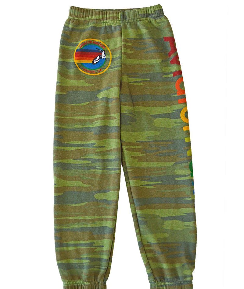 Aviator Nation Women Heather Rainbow 5 Stripe Sweatpants