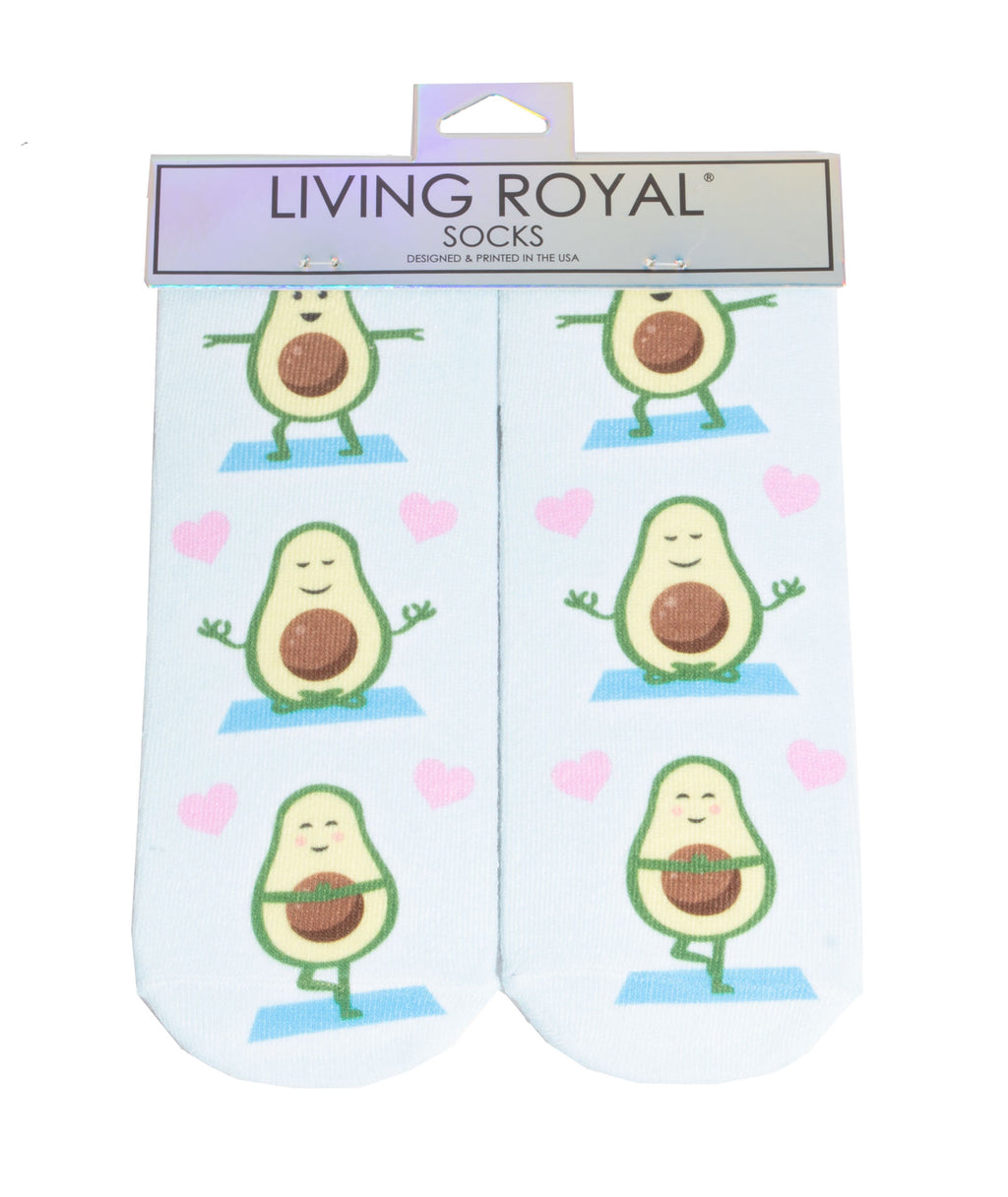 Living Royal Avocado Yoga Socks