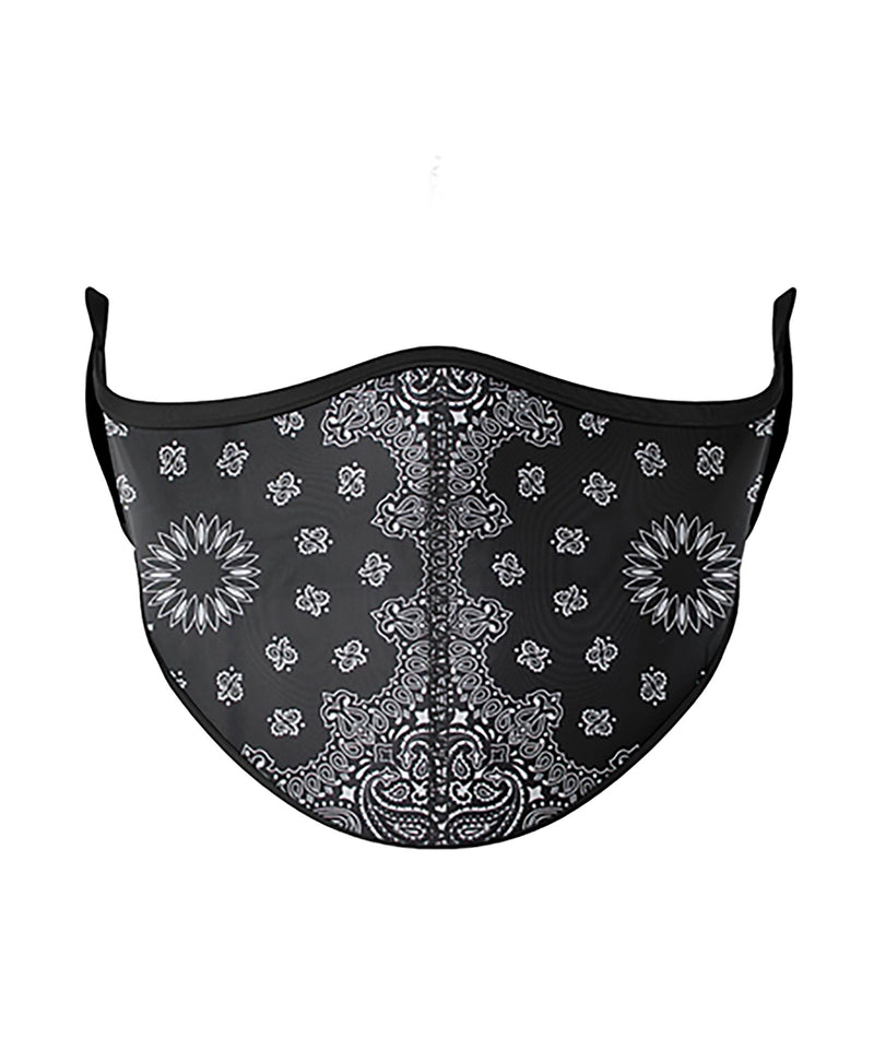 Top Trenz Black Bandana One Size Ages 8+ Face Mask