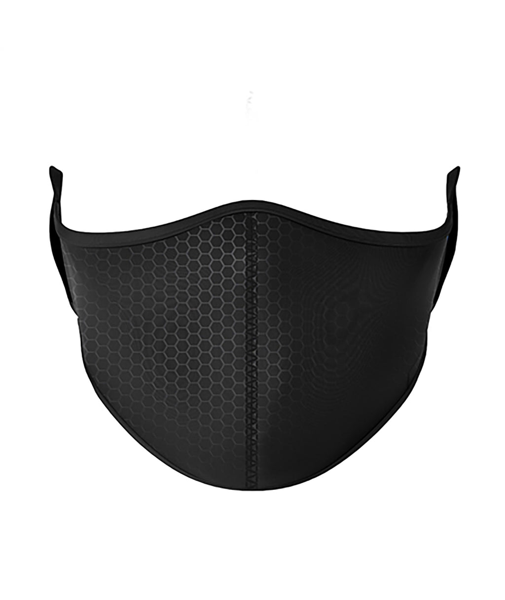 Top Trenz Black Carbon Fiber One Size Ages 8+ Face Mask