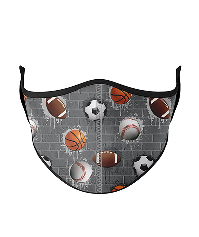 Top Trenz Sports City One Size Ages 8+ Face Mask