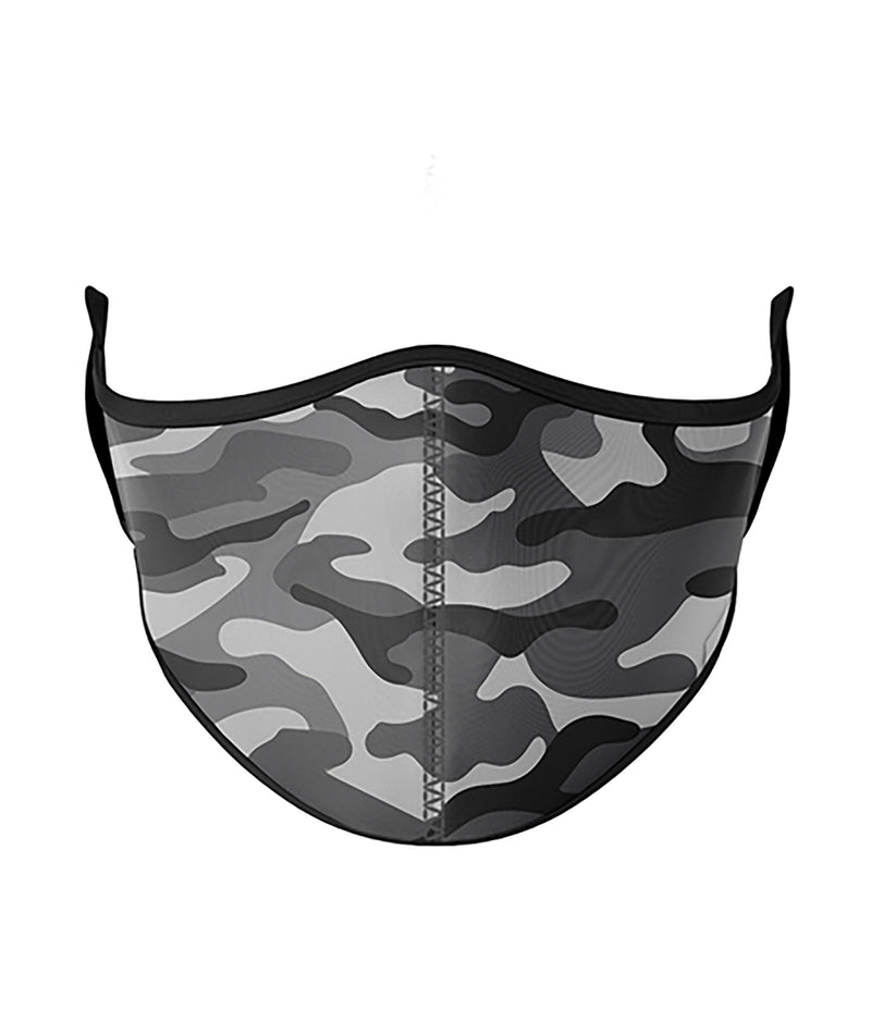 Top Trenz Grey Camo One Size Ages 8+ Face Mask