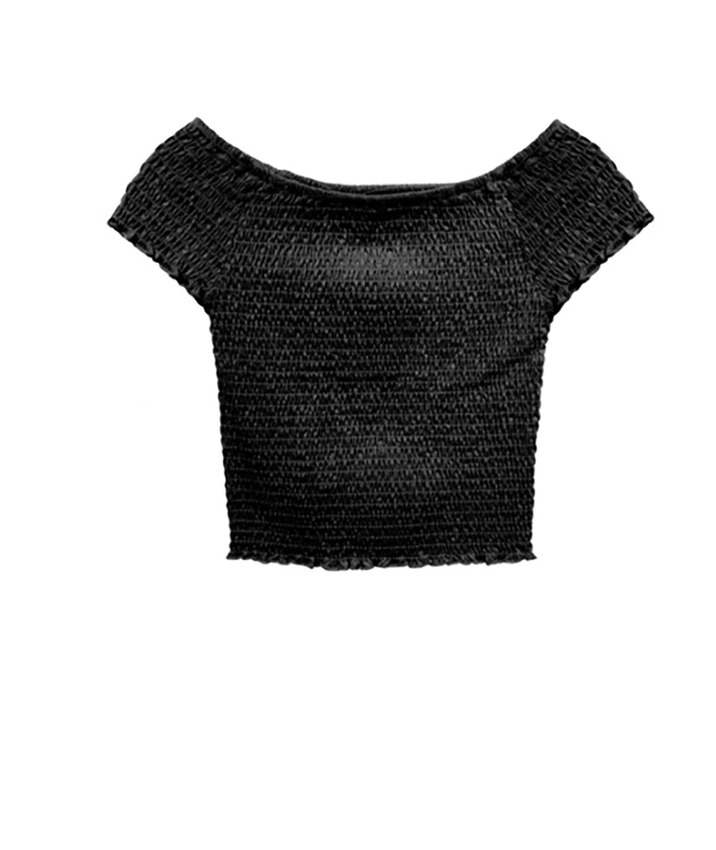 Me.n.u Girls Black Smock Top