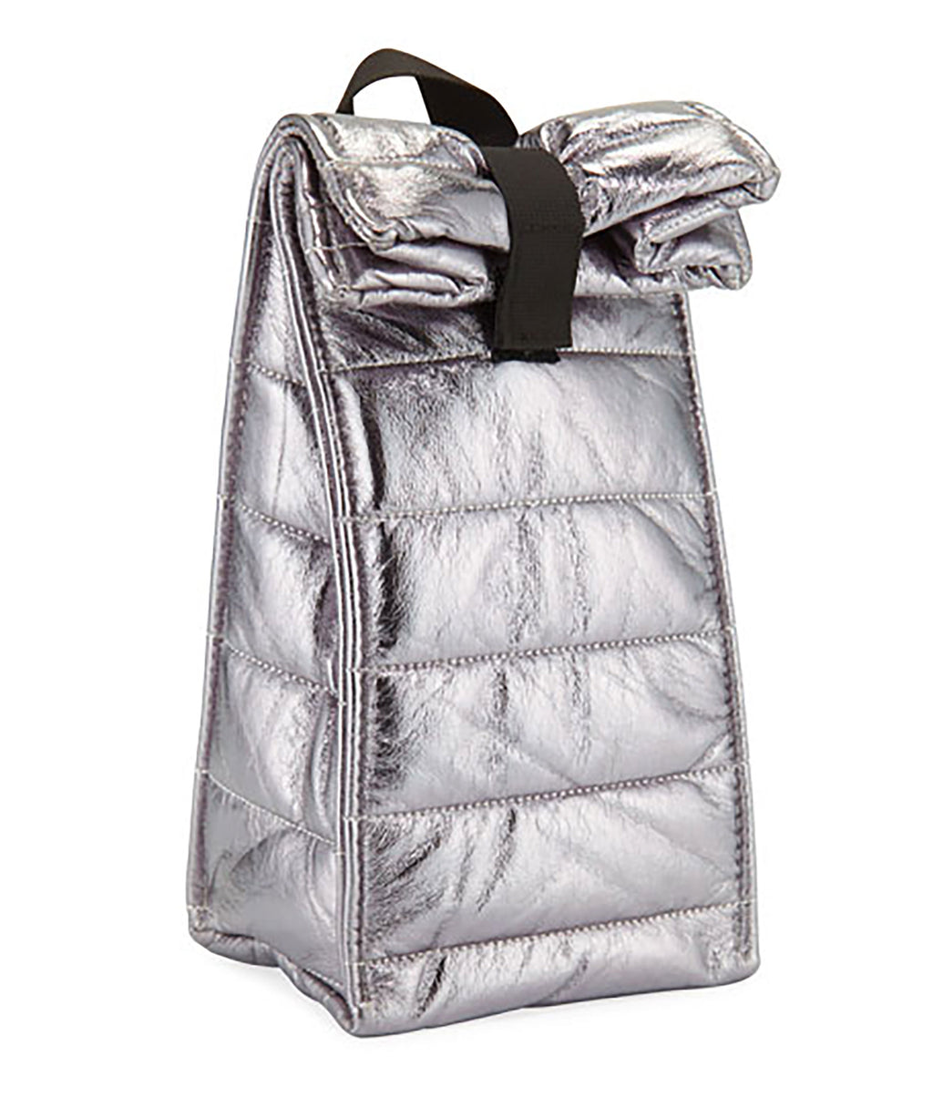 Bari Lynn Silver Puffy Snack Bag