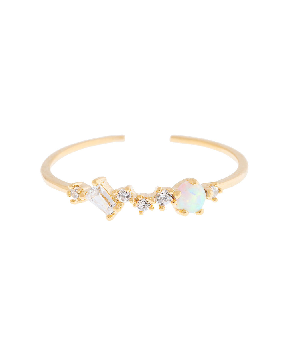 Girls Crew Gold Charming Opal Ring