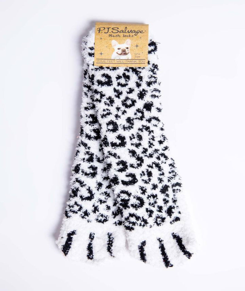 P.J. Salvage Cozy Ivory Animal Socks
