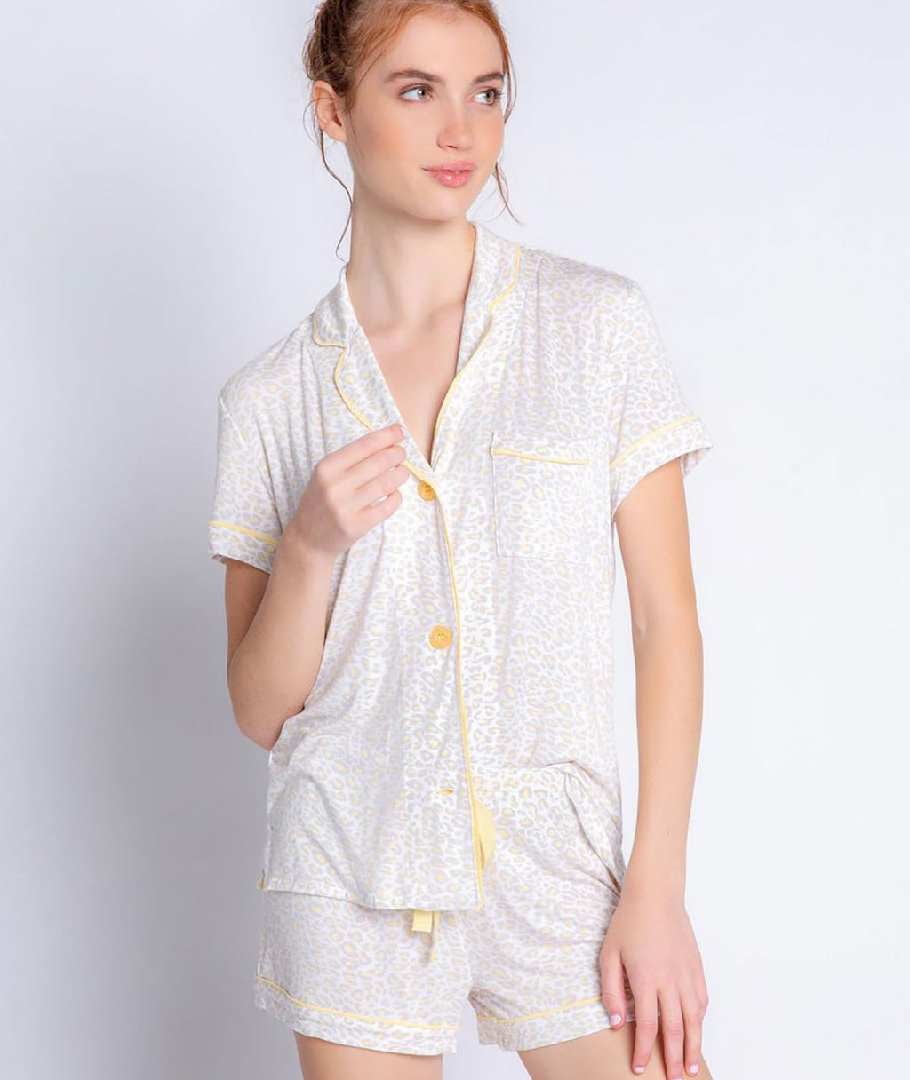 P.J. Salvage Women PJ Set Ivory Sunburst