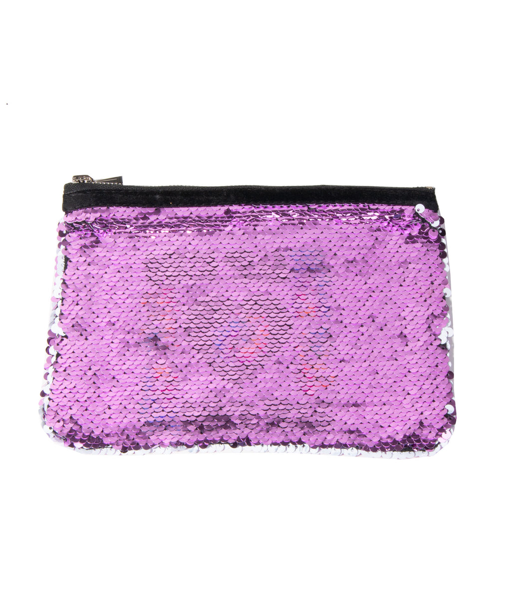 Reverse Sequin Cos Case Mini Heart & Lips