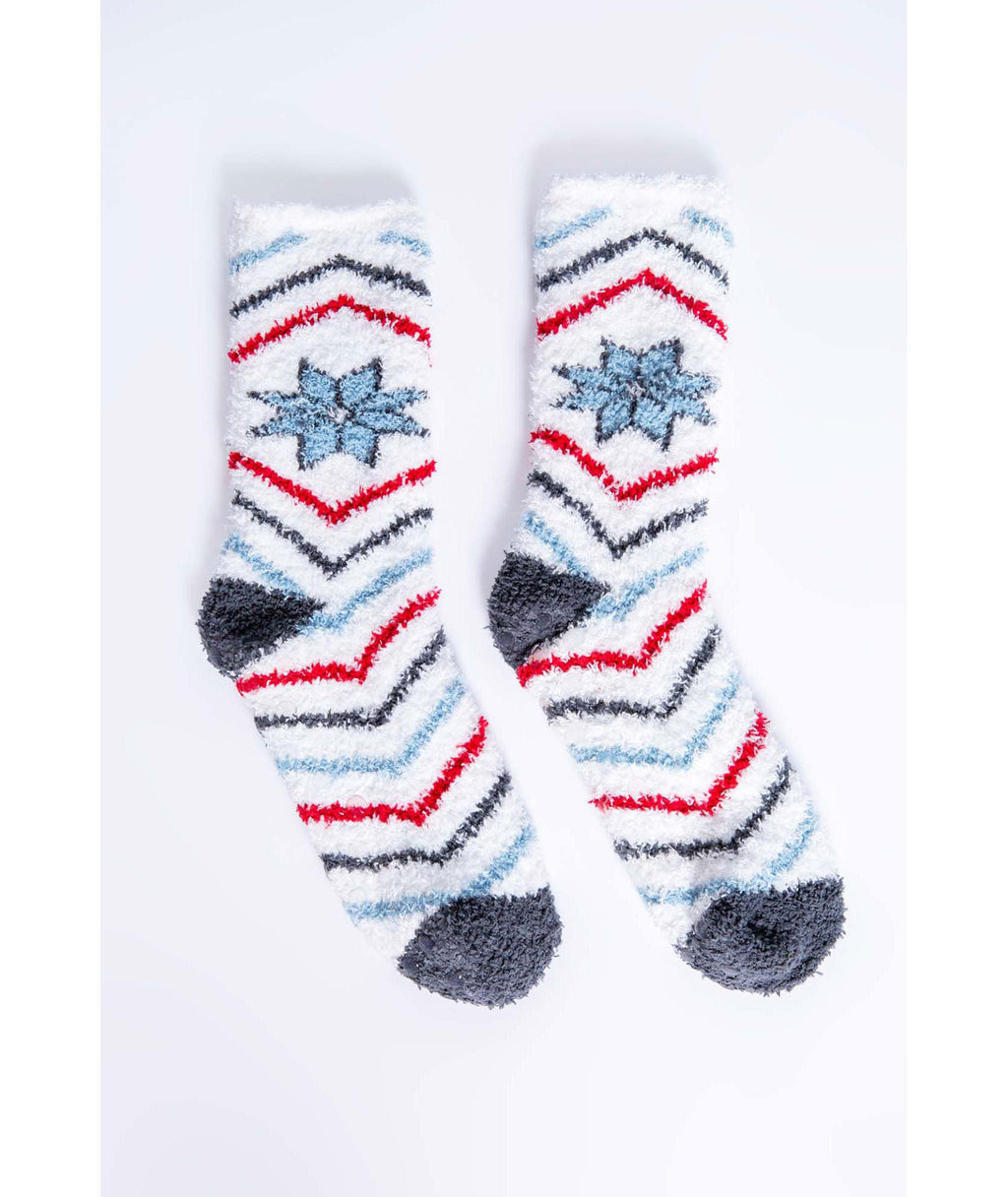 PJ Salvage Cozy Ivory Snowflake Socks
