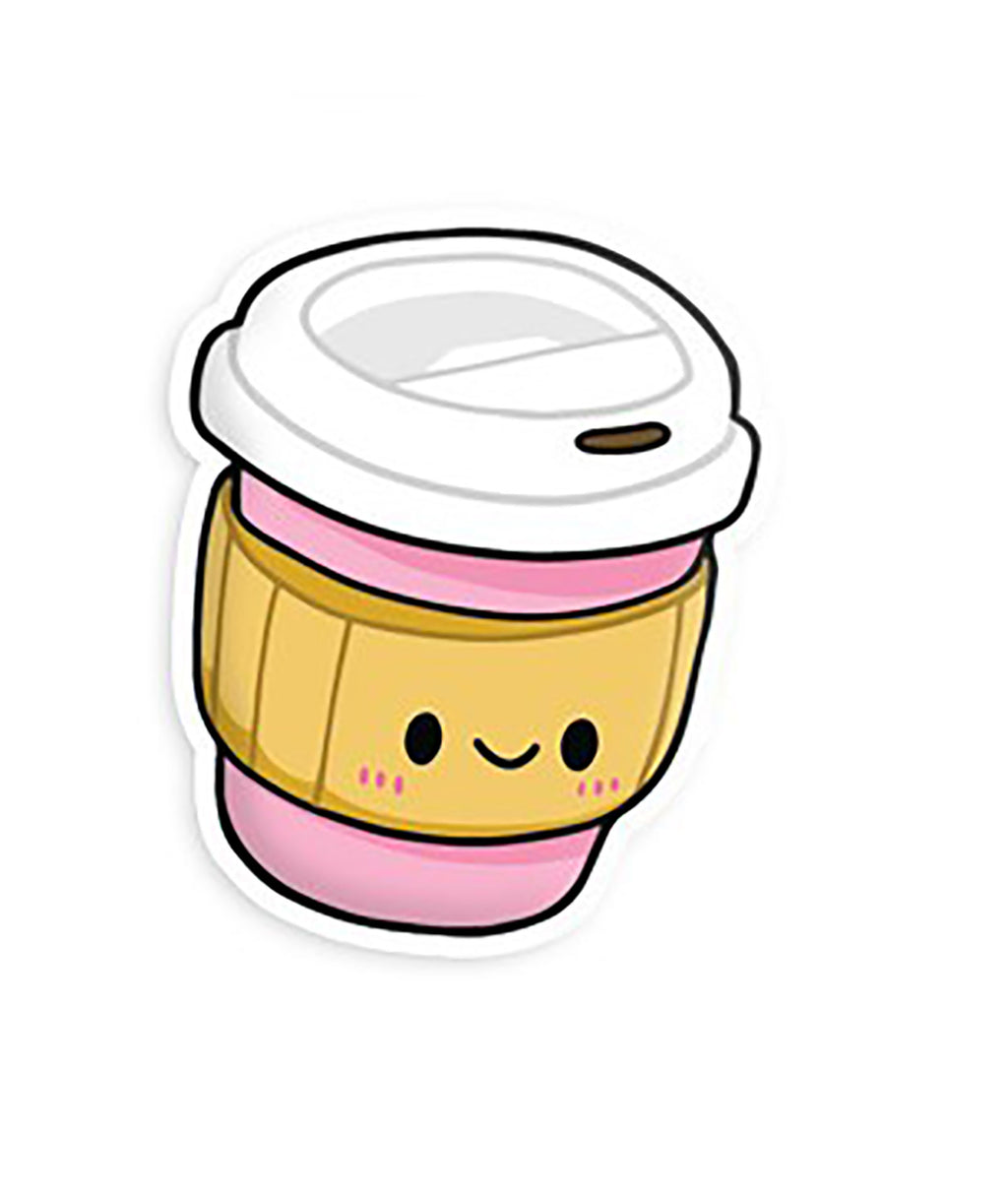 Squishable Vinyl Sticker Pink Coffee Cup