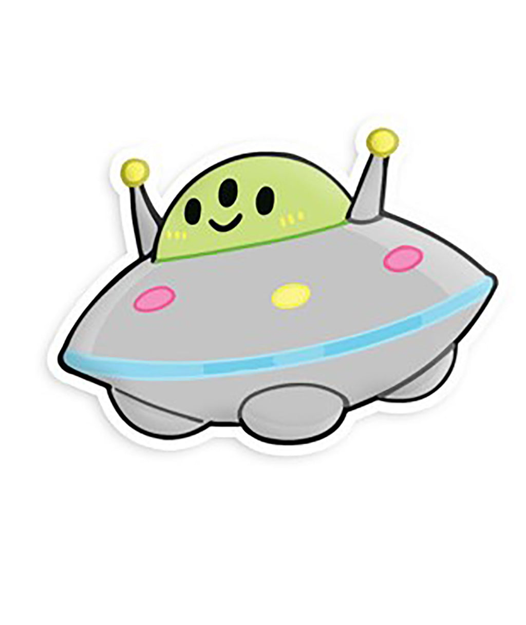 Squishable Vinyl Sticker Flying Saucer