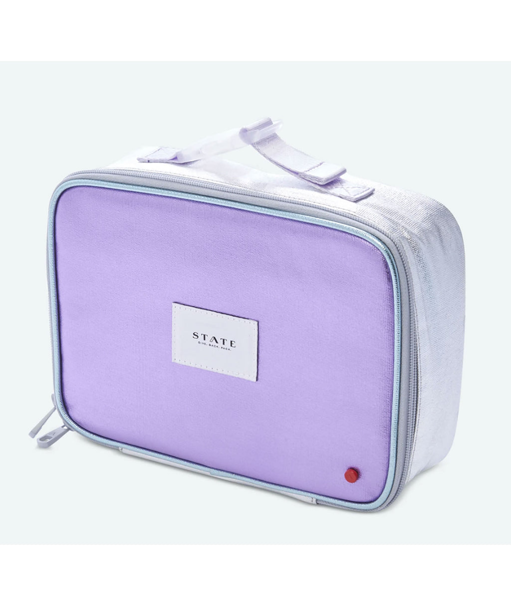 State Bags Rodgers Multi Metallic Lunch Box