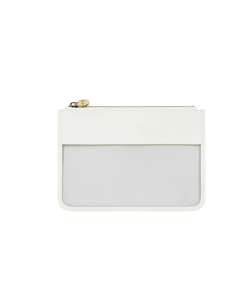 Stoney Clover Blanc Classic Clear Flat Pouch