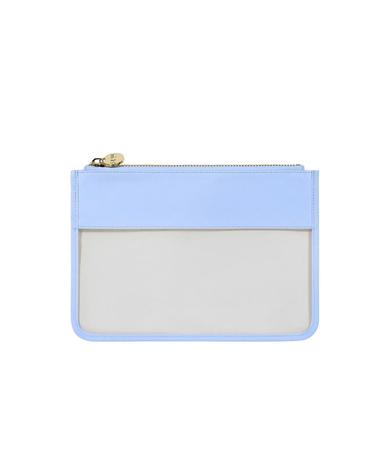 Stoney Clover Periwinkle Classic Clear Flat Pouch