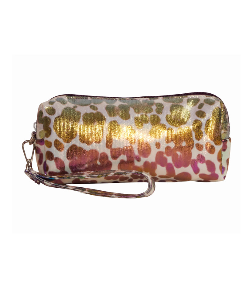 Bari Lynn Glitter Leopard Pencil Case