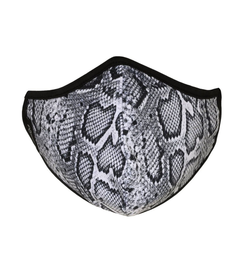 masQd Adults Mask With Filter Pocket Snakeskin