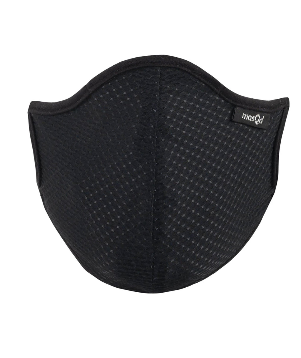 masQd Adults Mask With Filter Pocket Ultrasport Black