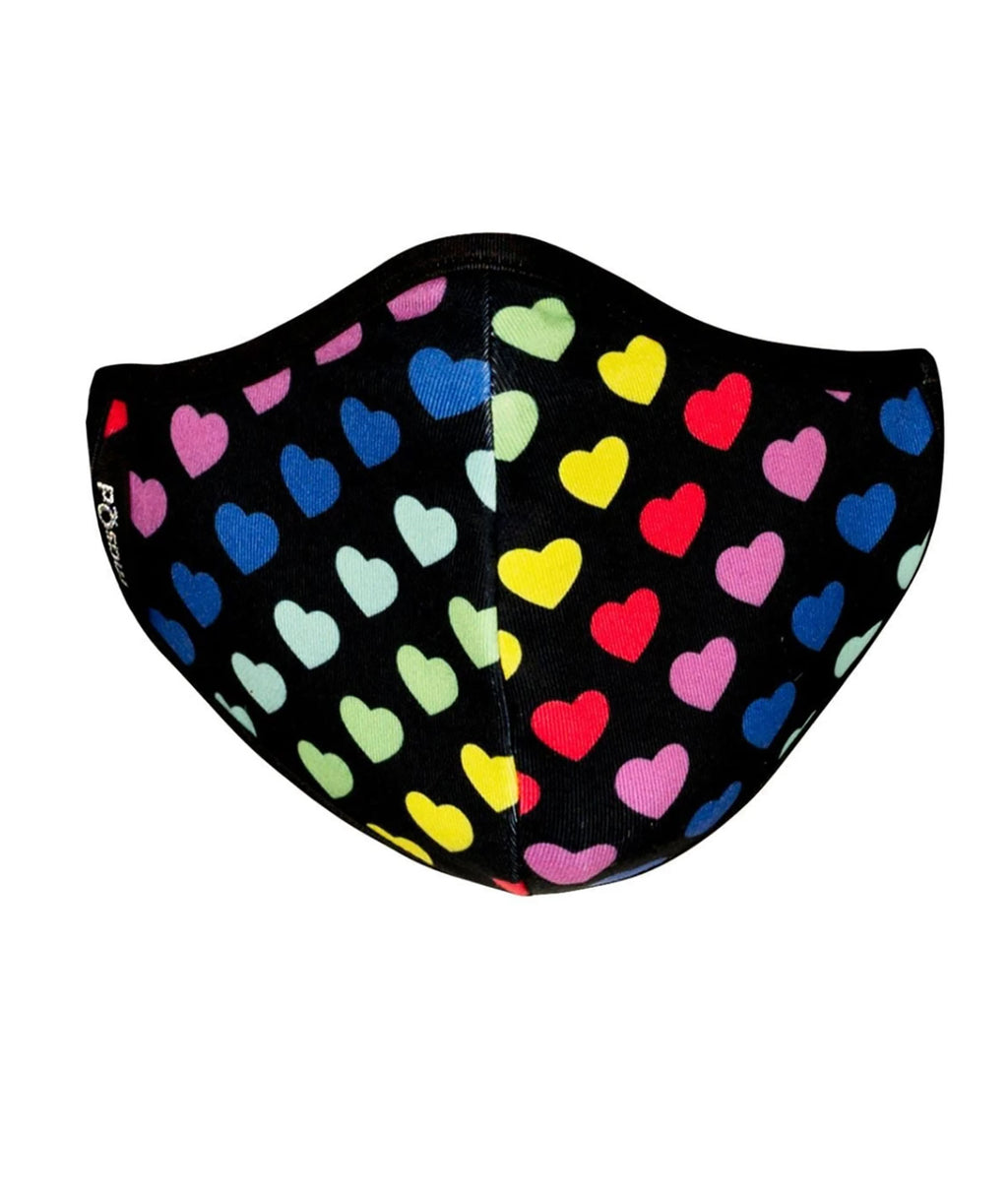 masQd Kids Mask With Filter Pocket Rainbow Heart