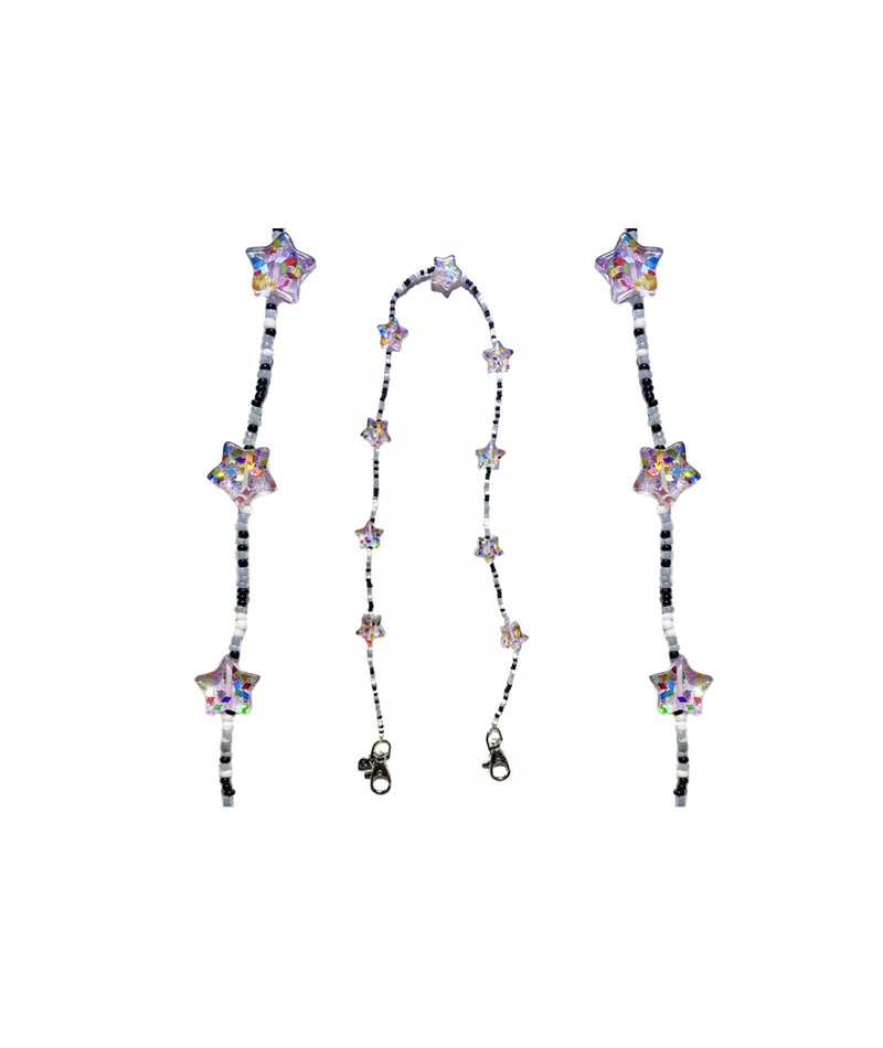 Bari Lynn Purple and Pink Hearts Mask Chain