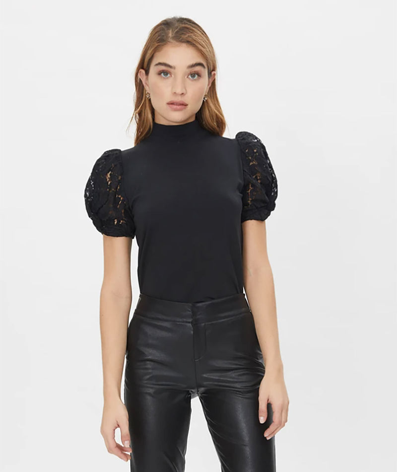 Generation Love Women Alanna Combo Black Lace Top