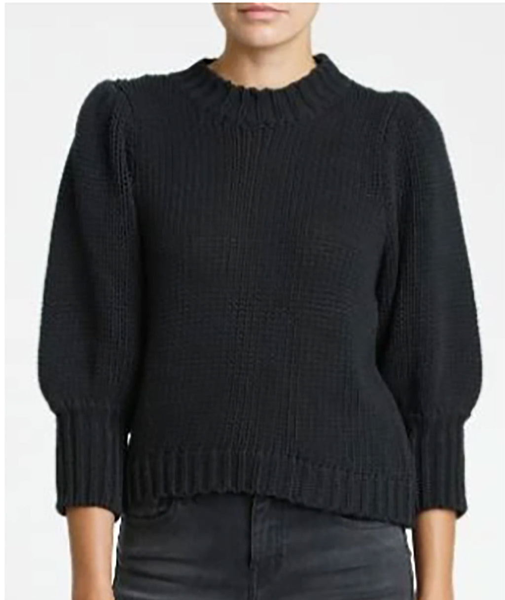 Pistola Women Gabbie Black Puff Sleeve Sweater