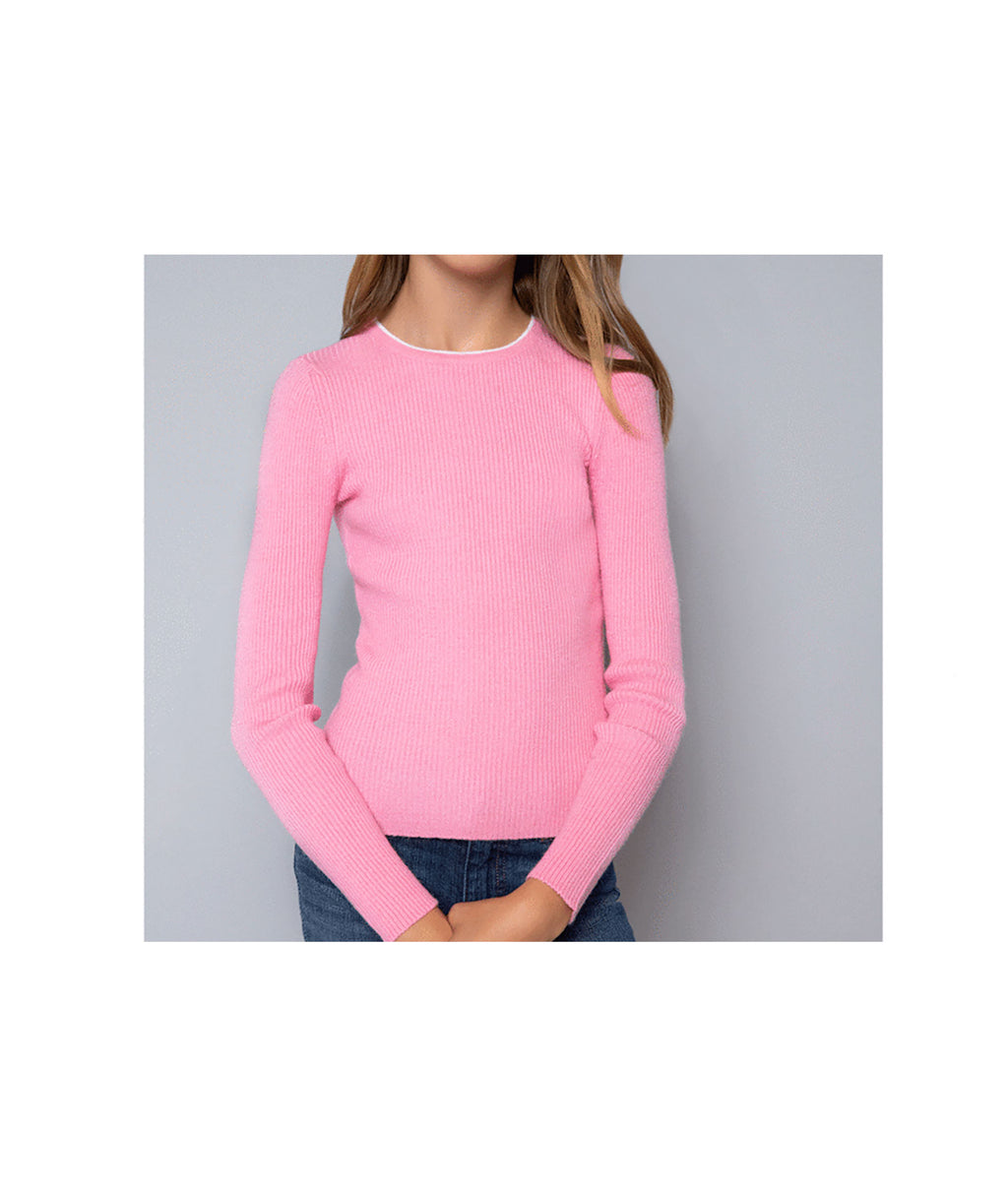 Me.n.u Girls Pink Rib Sweater