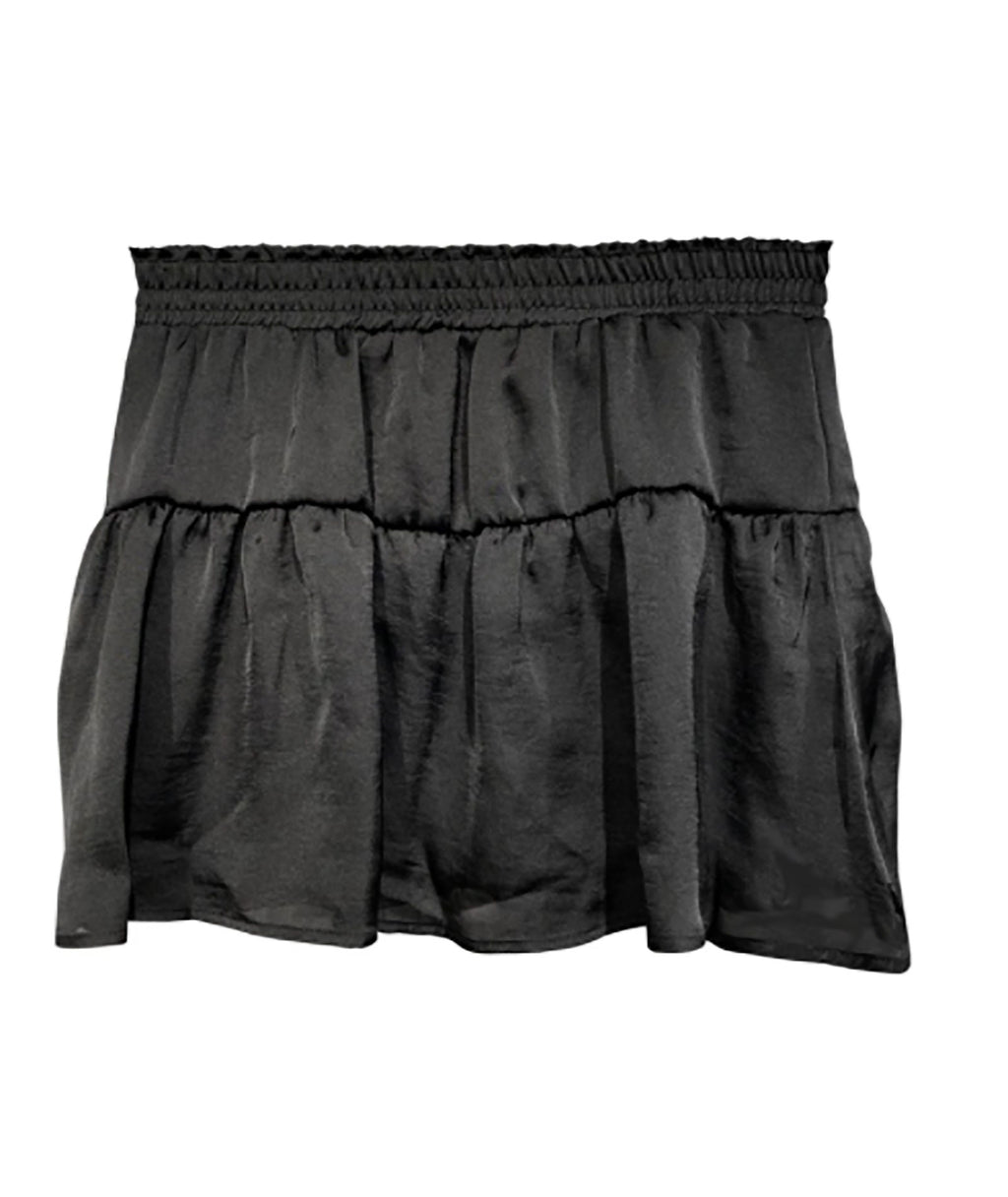 Me.n.u Girls Black Tiered Skirt