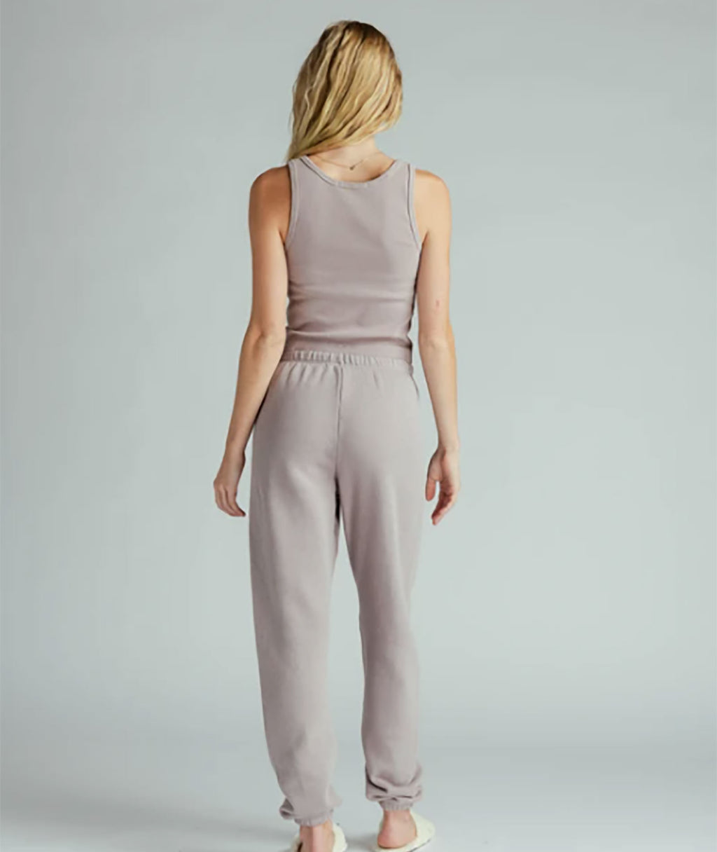 Perfect White Tee Women Stevie Easy Sweatpant Mauve Mist